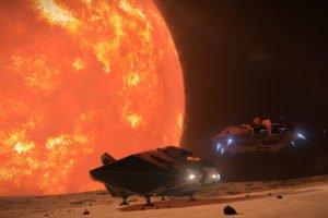 Elite: Dangerous, Stars, Space, Spaceship, Planet