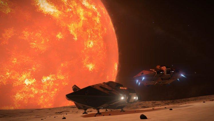 Elite: Dangerous, Stars, Space, Spaceship, Planet HD Wallpaper Desktop Background