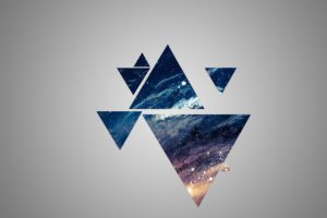 space, Blue, Yellow, Gray, Triangle