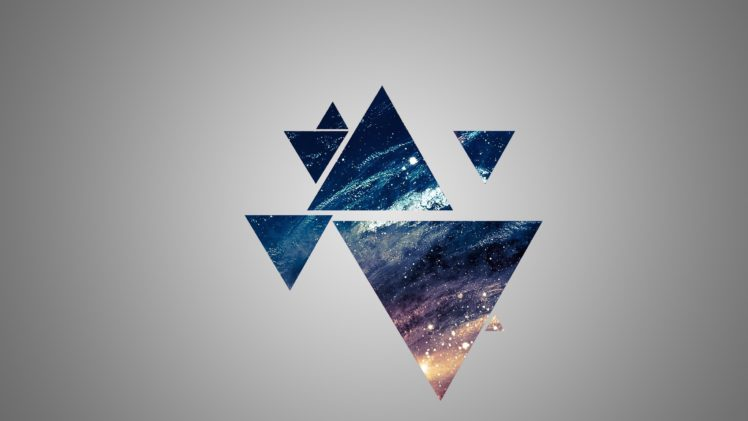 space, Blue, Yellow, Gray, Triangle HD Wallpaper Desktop Background