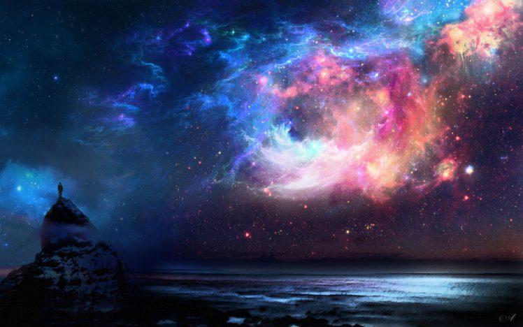 space, Rock, Alone, Water HD Wallpaper Desktop Background