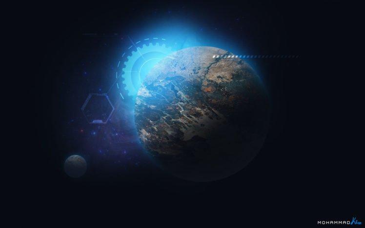 MohammadKhan, Mkmathers, Khan, Nebula, Space, Planet, MK Planet, Technology, Photo manipulation HD Wallpaper Desktop Background