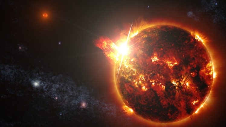Sun Space Milky Way Trap Nation HD Wallpaper Desktop Background