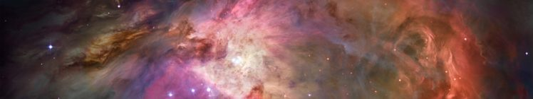 Orion, Nebula, Space, Stars, Suns, ESA, Hubble Deep Field, Galaxy, Multiple display, Triple screen HD Wallpaper Desktop Background
