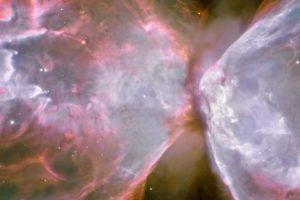 space, ESA, Hubble Deep Field, Suns, Stars, Galaxy, Butterfly Nebula, Nebula, Triple screen, Multiple display