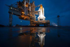 spaceship, NASA, Space shuttle, Space Shuttle Atlantis, Rocket, Space, Universe, Reflection