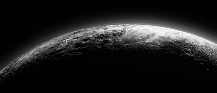 Pluto, Space, Planet, Monochrome HD Wallpaper Desktop Background