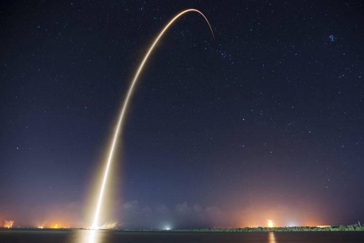 Launch Craft Rocket Stars Space Universe HD Wallpaper Desktop Background