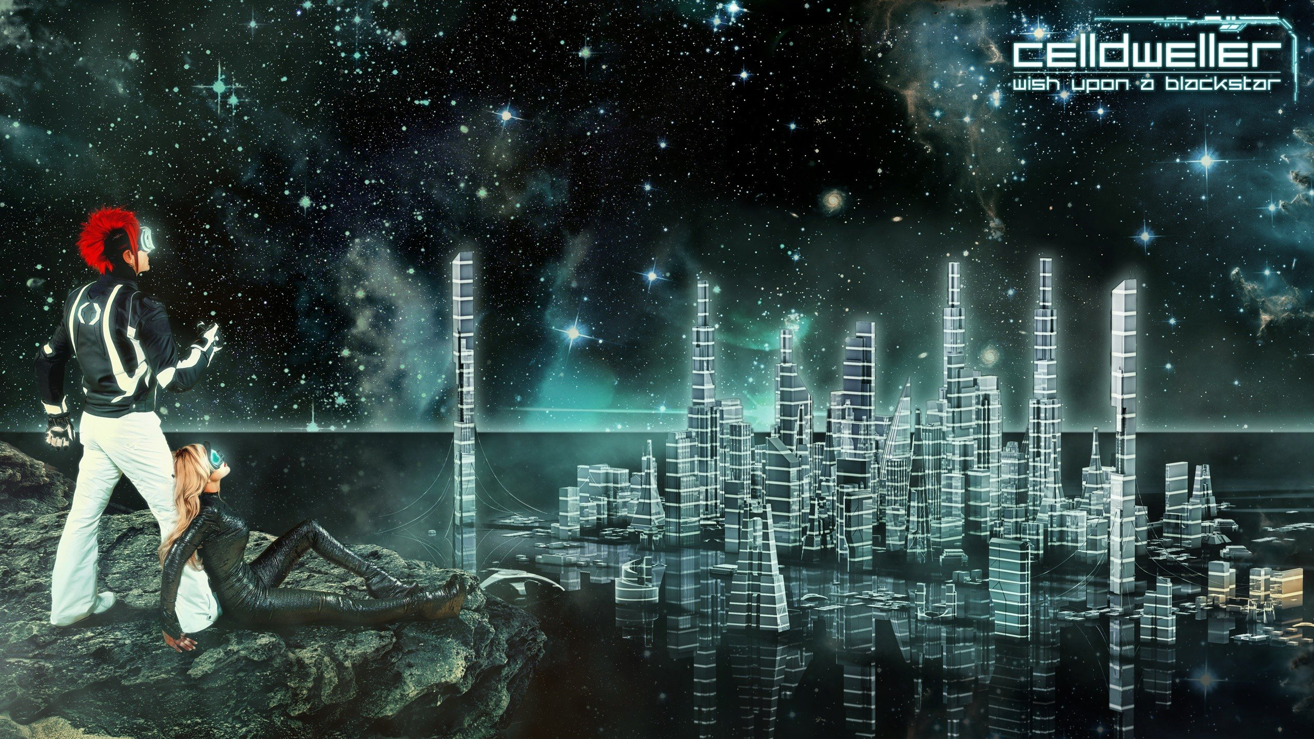 Klayton City Space Science Fiction Wish Upon A Blackstar Hd Wallpapers Desktop And Mobile Images Photos