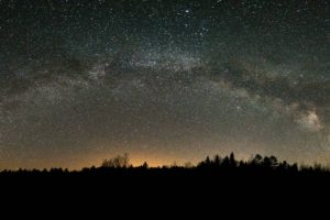galaxy, Stars, Space, Canada, Night, Milky Way, Panorama, Lake Airstrip, Lake, Ontario