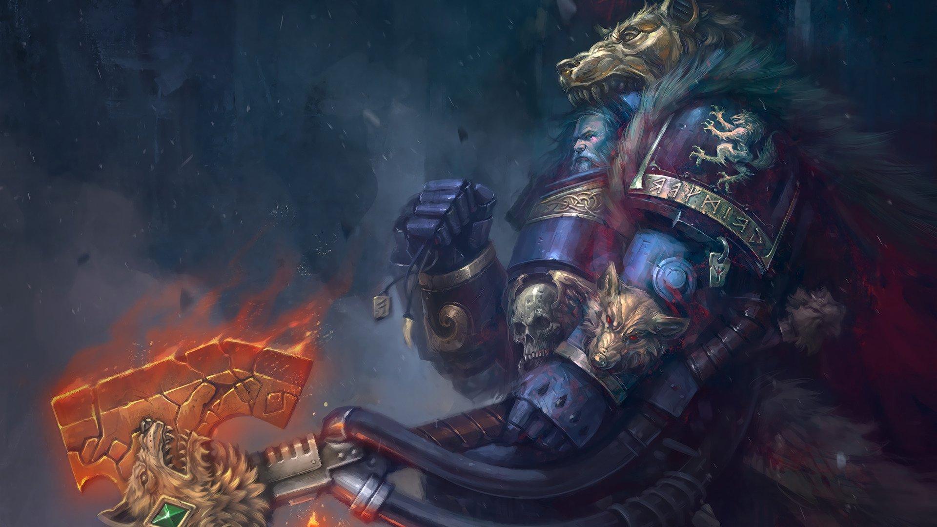 Logan Grimnar Warhammer 40 000 Space Marines Hd Wallpapers
