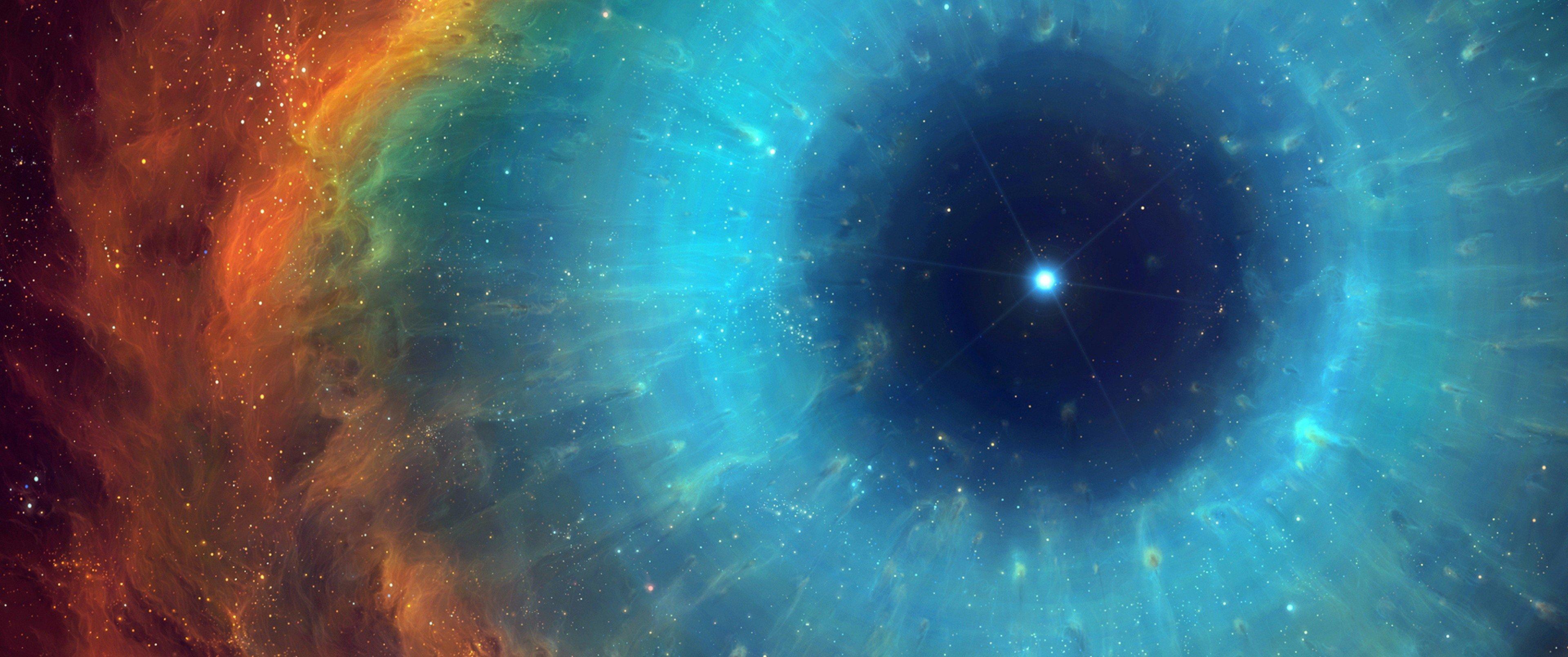 space, Colorful, Nebula, Stars, Helix nebula Wallpaper