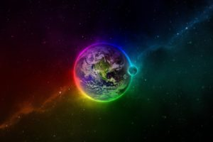 Earth, Space, Colorful