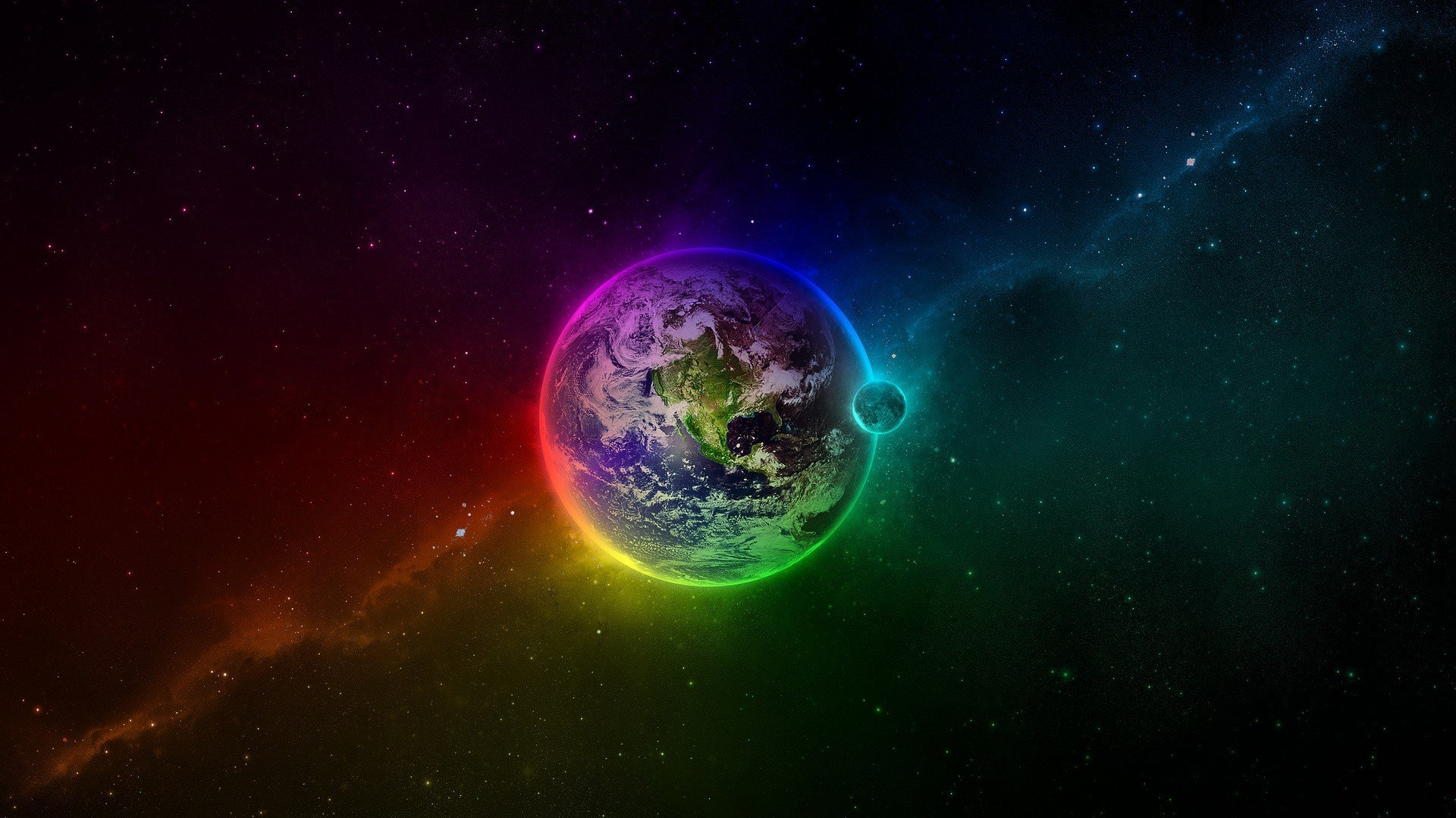 Earth Space Colorful Hd Wallpapers Desktop And Mobile Images