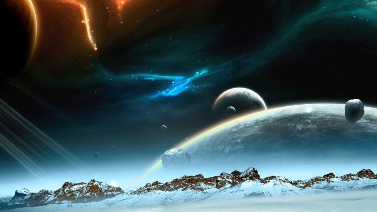 Space Planet Landscape Universe Night Sky Hd Wallpapers