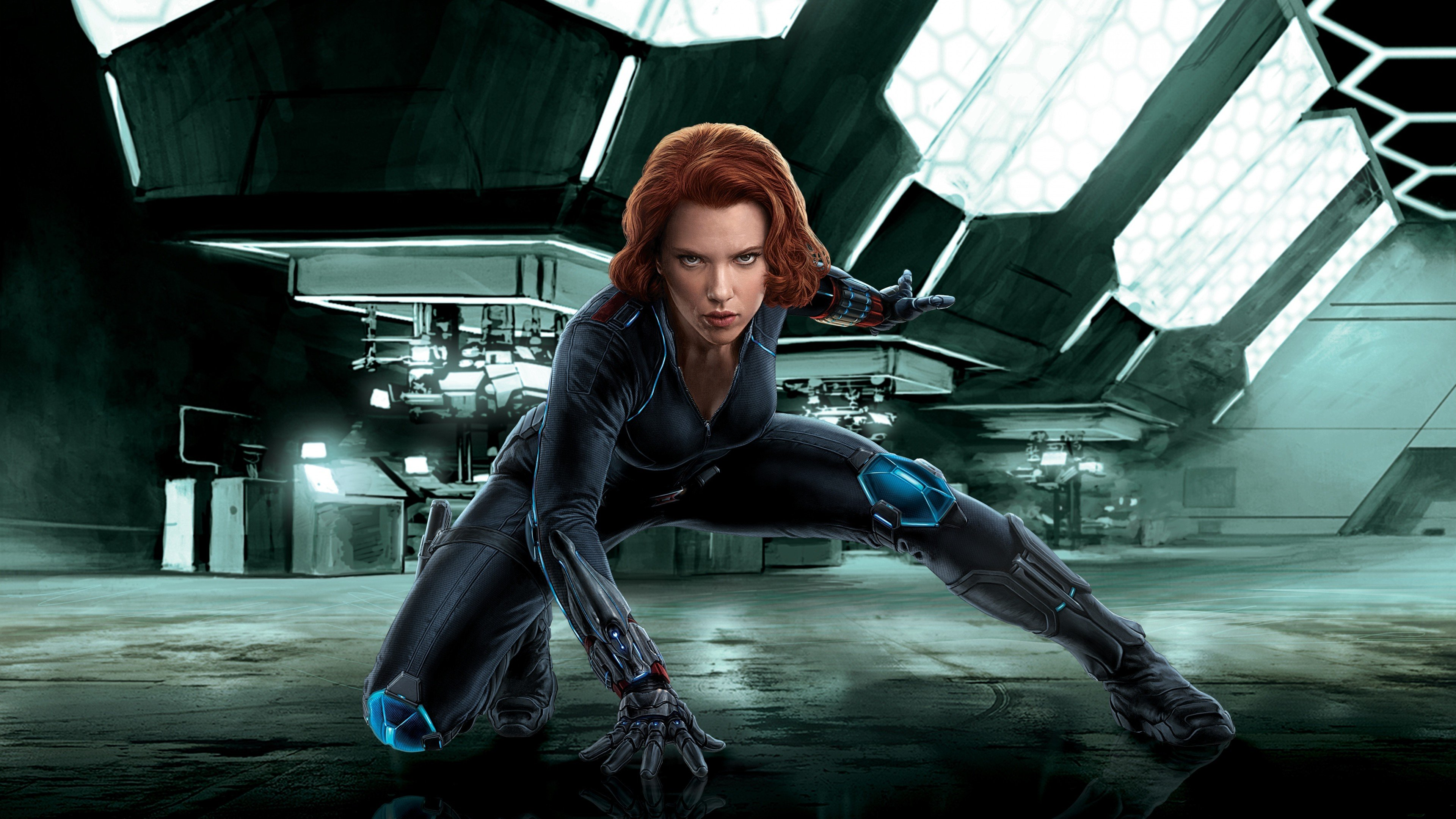 Black Widow, Scarlett Johansson, Redhead, Digital art, The Avengers, Futuristic, Avengers: Age of Ultron, Marvel Comics, Superheroines, Artwork, Marvel Cinematic Universe Wallpaper
