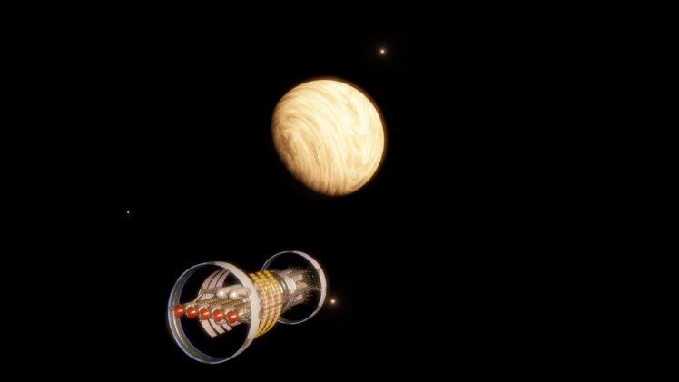Space Engine, Space, Universe, Science fiction, Ship HD Wallpaper Desktop Background