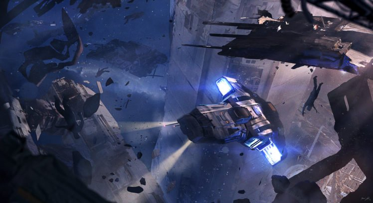 space, Science fiction, Futuristic, Spaceship HD Wallpaper Desktop Background