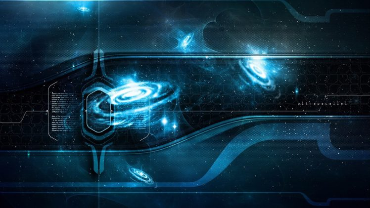space art, Digital art, Blue, Space HD Wallpaper Desktop Background