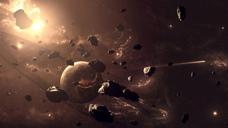 space, Asteroid HD Wallpaper Desktop Background