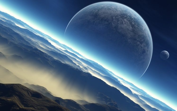 space, Planet, Universe, Digital art, Landscape, Space art HD Wallpaper Desktop Background