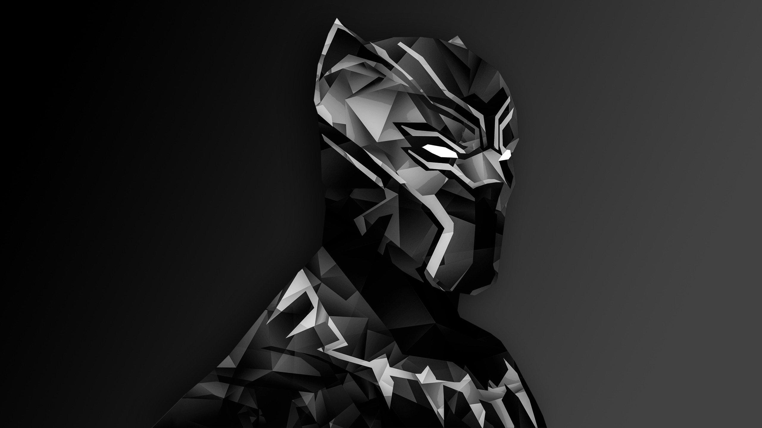 Top Wallpaper Marvel Simple - 386854-Black_Panther-Captain_America_Civil_War-low_poly-digital_art-Marvel_Cinematic_Universe-monochrome-simple_background  Graphic_22960.jpg
