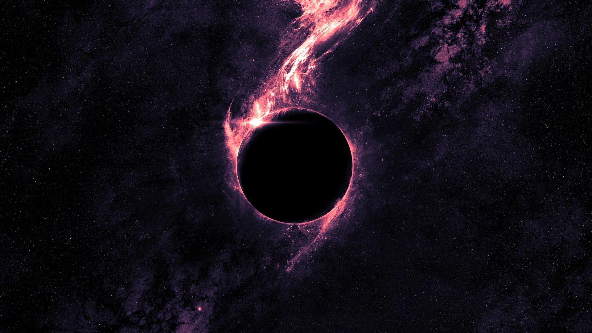 Purple Space Black Holes Galaxy Digital Art Space Art Artwork