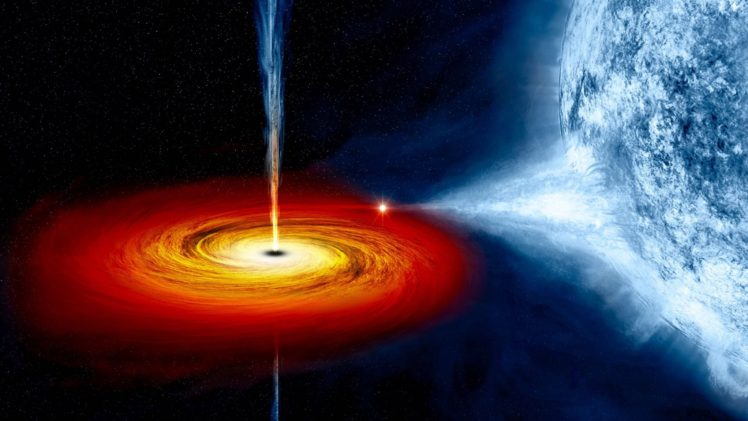 digital art, Space art, Space, Universe, Stars, Planet, Black holes, Whirling, Spiral, Quasars HD Wallpaper Desktop Background