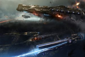 science fiction, Space, Battle, Futuristic, Dreadnought