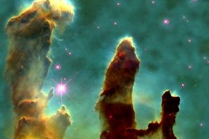 Pillars of Creation, Space