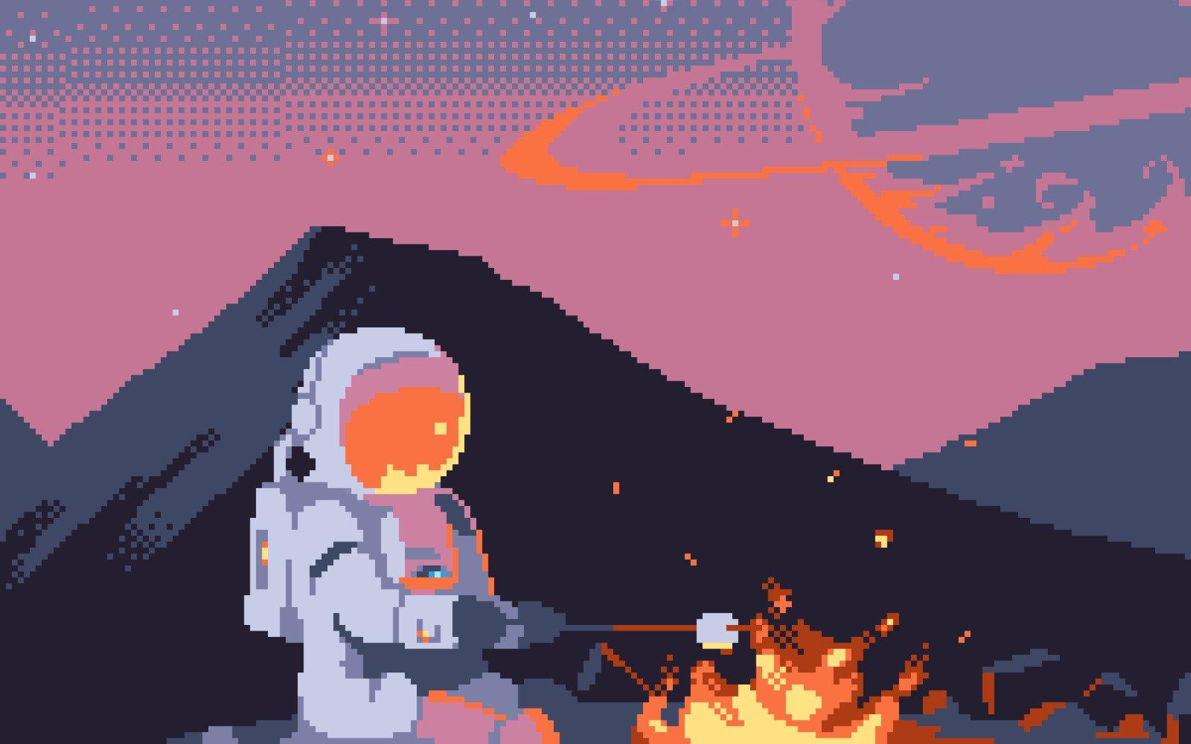 Astronaut, Pixelated, Pixel Art, Pixels, 8 Bit, Space