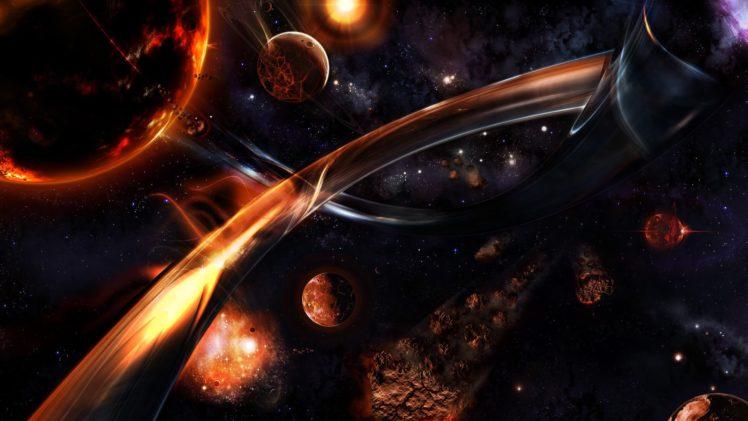 space, 3D, Asteroid, Stars HD Wallpaper Desktop Background