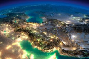Iran, Night, Space