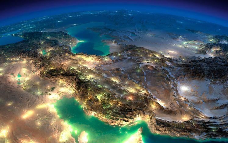 Iran, Night, Space HD Wallpaper Desktop Background