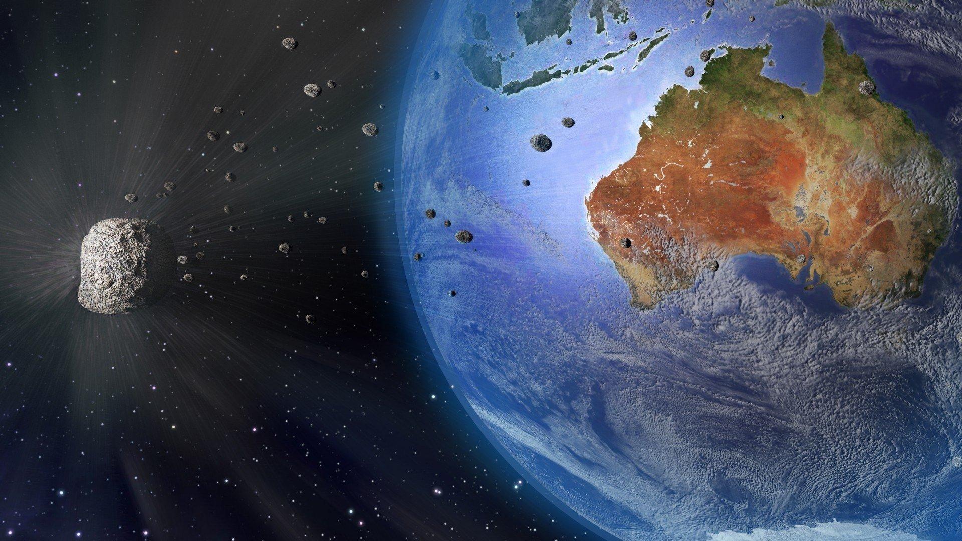 Earth Digital Art Hd Wallpaper: Digital Art, Space Art, Meteors, Earth, Continents