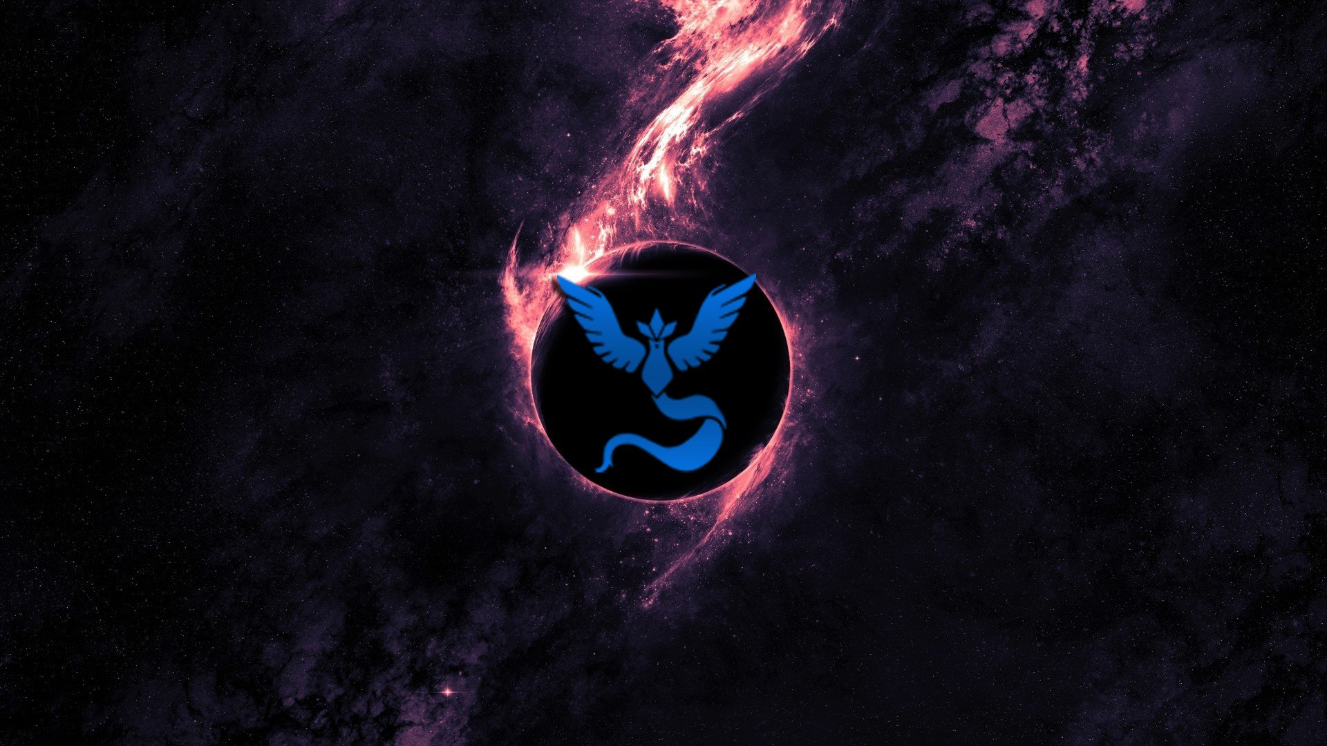 Pokemon Go Team Mystic Space Blue Hd Wallpapers Desktop And