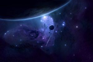 space, Planet, Nebula, Stars