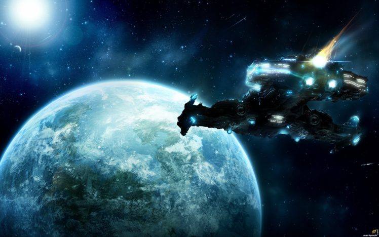space, Spaceship HD Wallpaper Desktop Background