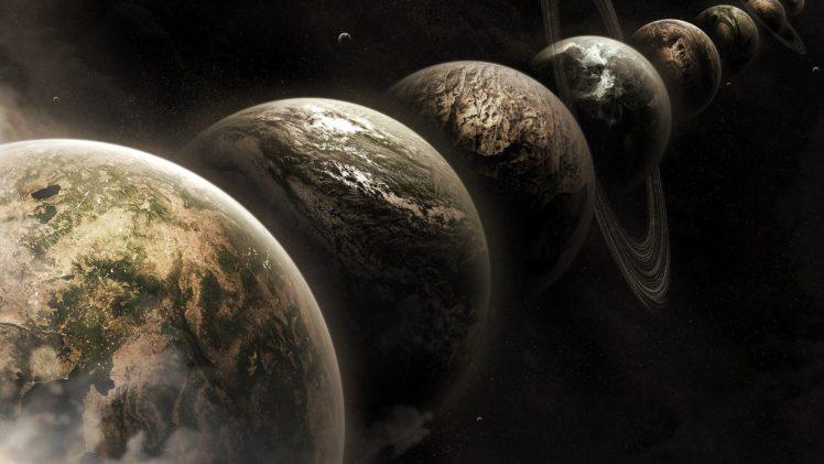 space, Planet, Moon HD Wallpaper Desktop Background