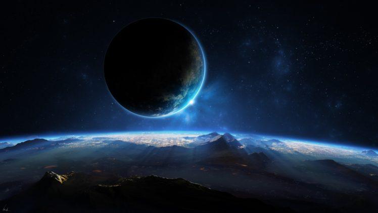 space, Space art, Planet, Landscape HD Wallpaper Desktop Background