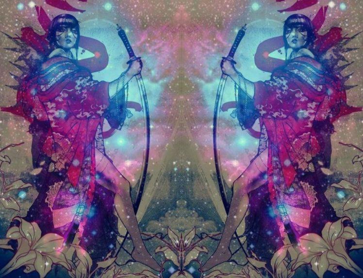 space art, Katana HD Wallpaper Desktop Background