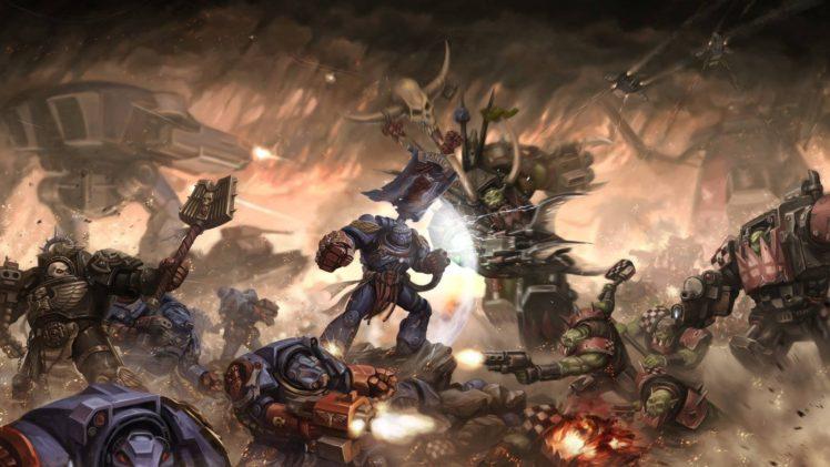 Battle Warhammer 40 000 Ork Space Marines Mech Hd