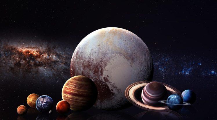 space, Space art, Solar System, Digital art HD Wallpaper Desktop Background