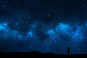 sky, Alone, Nature, Night, Space, Landscape, Space art, Digital art