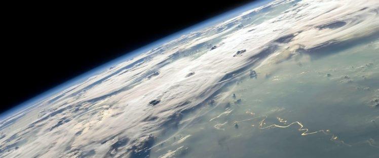 space, Earth, Clouds, Space art HD Wallpaper Desktop Background