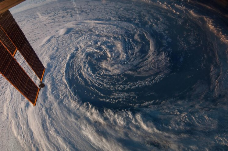 International Space Station, Storm, NASA, Clouds, Space, Earth, Hurricane, Aerial view HD Wallpaper Desktop Background