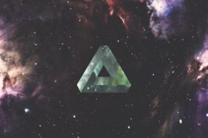 triangle, Geometry, Space, Nebula, Galaxy, Penrose triangle