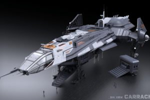 anvil aerospace, Anvil Carrack, Star Citizen, Video games, 3D, Spaceship