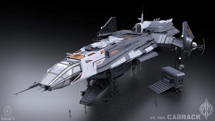 anvil aerospace, Anvil Carrack, Star Citizen, Video games, 3D, Spaceship HD Wallpaper Desktop Background
