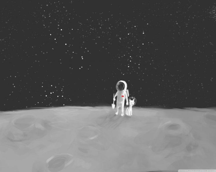 astronaut, Pet, Space HD Wallpaper Desktop Background